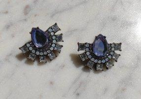 Baublebar Statement Ohrringe Kristallsteine blau flieder opal transparent