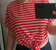 Primark Cropped shirt wit-rood
