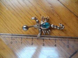 Bauchnabel-Piercing Skorpion mit blauem Stein