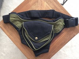 Bauchtasche Gürteltasche Canvas Baumwolle schwarz khaki