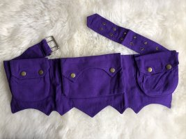 Bauchtasche Gürteltasche lila Canvas Baumwolle Sidebag
