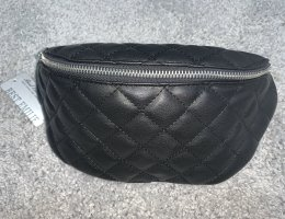 Bumbag black-silver-colored