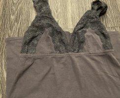 Schiesser Top di merletto grigio scuro