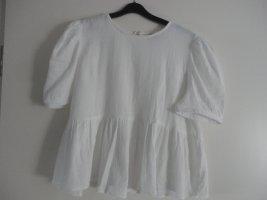 Primark Short Sleeved Blouse white cotton