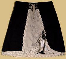 Alphorn Flounce Skirt black-oatmeal