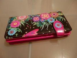 styleBREAKER Portemonnee zwart-roze