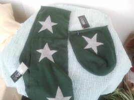 Beanie olive green-forest green mixture fibre