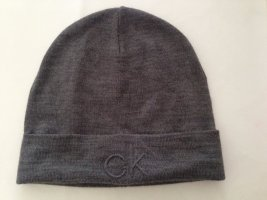 Calvin Klein Knitted Hat grey mixture fibre