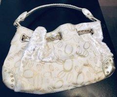 Bebe Damen Handtasche Creme Weiß Gold