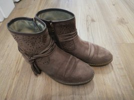 beige Boots Gr 37