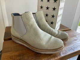 Beige Chelsea Boots von Tamaris, Gr. 39