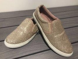 Beige/Gold Schuhe