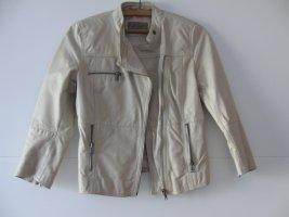 Beige Jacke Leder-Optik von Zara