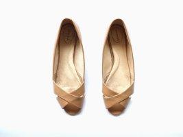 Lands' End Peep Toe Ballerinas multicolored leather