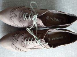 Beige Leder Ankle Boots von Bonita Gr.41