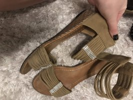 Platform Sandals beige-silver-colored