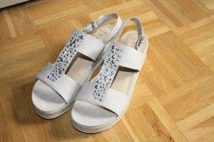 Marco Tozzi Plateauzool sandalen zandig bruin