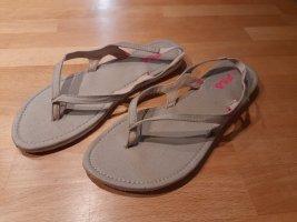 Fils Flip-Flop Sandals cream-pale yellow mixture fibre