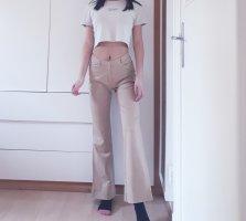 Hallhuber Pantalone a zampa d'elefante beige