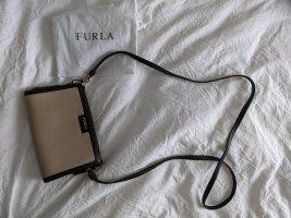 Beige / schwarze kleine Crossbody Bag von FURLA