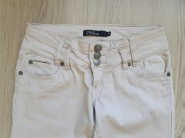 Slim Jeans beige cotton