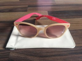 Beige Sonnenbrille mit Case