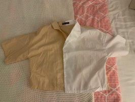 Beige Weiße Bluse
