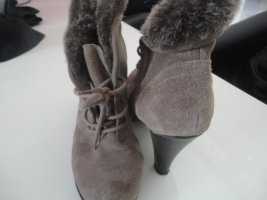 Tamaris Lace-up Booties multicolored suede