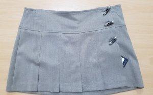 Falda cruzada marrón grisáceo-marrón