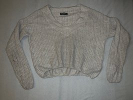Beiger Cropped Pullover