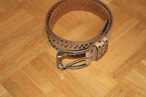 Petrol Industries Leather Belt sand brown