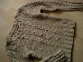 Basefield Coarse Knitted Sweater sand brown-camel wool