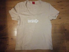 Beiges Esprit T-Shirt in Gr. XS | S