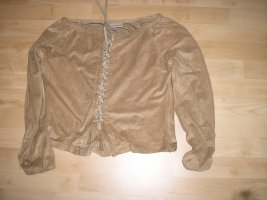 Comma Leather Blouse camel-beige