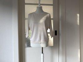 Beiges Oberteil mit Cutout-Details an den Schultern 36