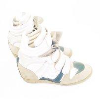 bekett wedge sneaker / steve madden / leder / casual / weiss / blau / silber