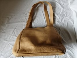 Bellissima Creation Handbag dark yellow leather