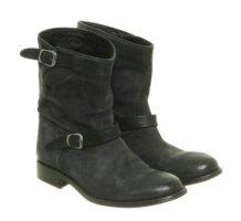 Belstaff Boots in Schwarz Gr. 36 (37) 100% Leder Echtleder