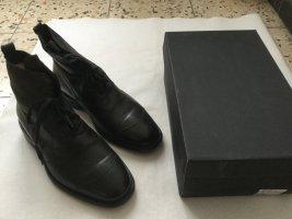 Belstaff Boots Stiefeletten Stiefel dunkelbraun Gr. 44 Leder Herren
