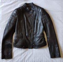 Belstaff Endrick Lederjacke Schwarz Grau Gr.34 IT38 Leather Jacket