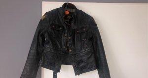 Belstaff Leather Jacket dark grey