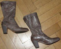 Belstaff Bottes à talon gris brun-marron clair cuir