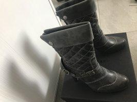 Belstaff Bottines à fermeture éclair gris foncé cuir