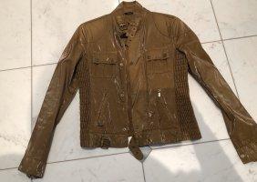 Belstaff Biker Jacket bronze-colored cotton
