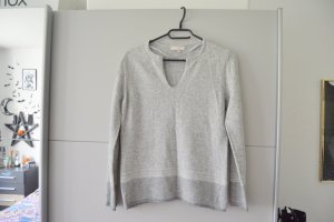 Benedetta B. V-Neck Sweater light grey-grey