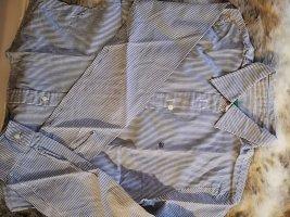 Benetton, bluse blau weiss gestreift