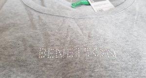 Benetton T-shirt  Aufdruck mit Strass Steinchen