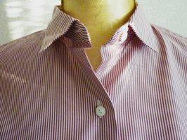 Benneton Basic Bluse rot weiss gestreift Streifenbluse Shirt Businesskleidung