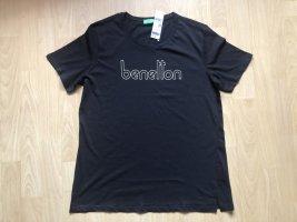 Benetton T-shirt czarny Bawełna