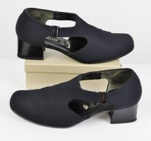 Bequem Stretch Sandalen Pumps Fashion Gabor Größe 7 40,5 Schwarz Trotteur Schlupfschuhe  Cut Out